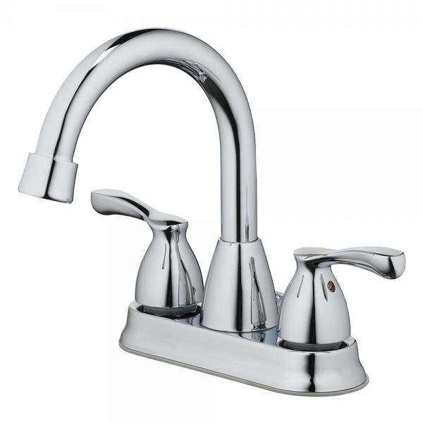 "Lavatory Faucet Two Handle 4 "" Center, with Pop Up & Lift Rod Chrome"