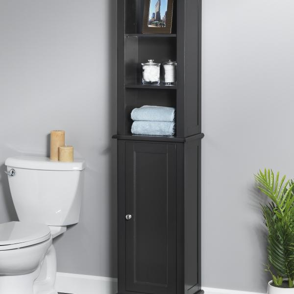 Bath Storage - Linen Tower with Quick Snap - Espresso Finish
