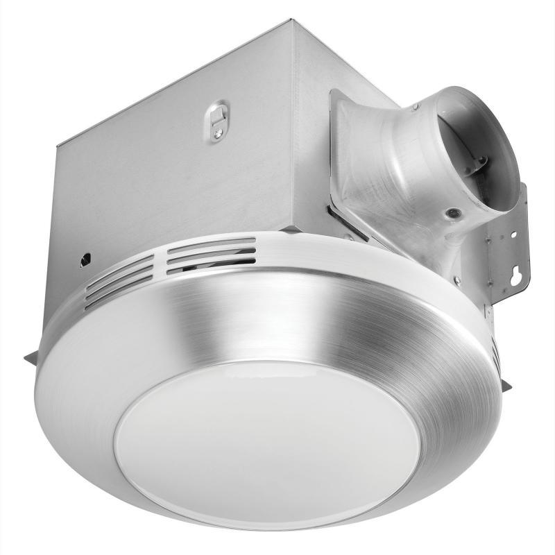Bath Fan Rounded Lens 80cfm 1 1 Sones Dimmable Led Ac Motor